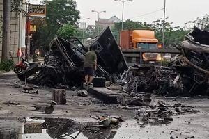 Xe container đâm nhau rồi bốc cháy, 2 người tử vong ở Hải Phòng