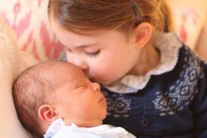 Tan chảy trước những nụ hôn ngọt ngào của em bé Hoàng gia Anh
