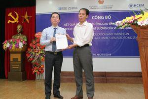 Trường Cao đẳng Cơ điện Hà Nội được xếp loại Tốt theo tiêu chí của Anh