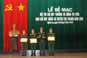 Bế mạc Hội thi Chỉ huy trưởng, Chính trị viên Ban CHQS huyện, thị, thành năm 2018
