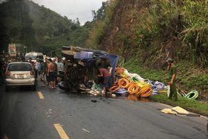 Xe tải mất phanh gây tai nạn liên hoàn ở Dốc Cun, 4 người thương vong