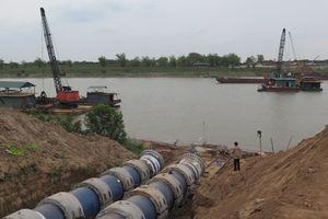 Đóng luồng sông Đuống thêm 7 giờ để đánh chìm đường ống nước