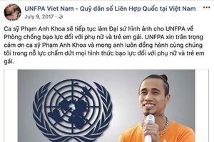 Giữa lùm xùm 'gạ tình', Quỹ Dân số LHQ tại Việt Nam gỡ toàn bộ hình ảnh Phạm Anh Khoa