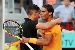 Highlights Nadal thua sốc Dominic Thiem tại tứ kết Madrid Open