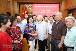 Tổng Bí thư Nguyễn Phú Trọng tiếp xúc cử tri quận Ba Đình, Hoàn Kiếm