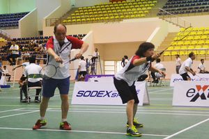 Gần 200 tay vợt tham gia Giải Cầu lông gia đình Hà Nội năm 2018