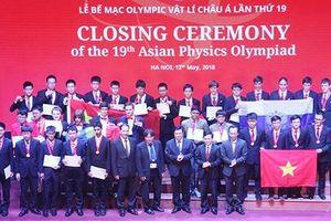 Việt Nam giành 4 huy chương vàng tại Olympic Vật lý châu Á lần thứ 19