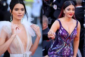 Kendall Jenner hở hang, Hoa hậu đẹp nhất thế giới gợi cảm ở Cannes