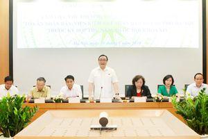 Đoàn đại biểu Quốc hội TP Hà Nội làm việc với các cơ quan của thành phố trước kỳ họp thứ năm