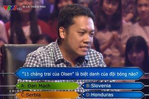 Anh Minh Tuấn dừng cuộc chơi khi chọn đáp án theo 34% khán giả