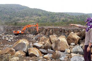 Chưa thống nhất đền bù, đã đề xuất cho mỏ đá hoạt động lại