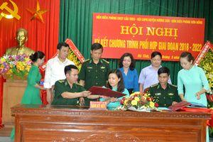 Phụ nữ huyện Hương Sơn hăng hái tham gia bảo vệ chủ quyền lãnh thổ, biên giới quốc gia