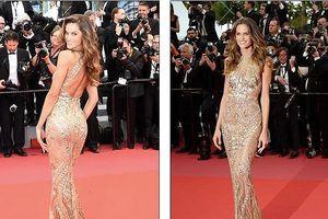 Siêu mẫu nội y khoe 3 vòng nóng bỏng trên thảm đỏ Cannes
