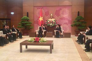 Phó CTQH Tòng Thị Phóng tiếp đoàn Đại biểu Quốc hội Lào