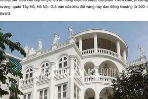 Bộ Công Thương yêu cầu một tờ báo đính chính về căn biệt thự ở Tây Hồ
