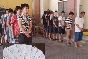 Hà Tĩnh: Khởi tố 19 đối tượng trong vụ đánh bạc tại quán cà phê