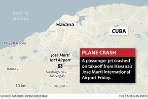 Cuba: Rơi máy bay, 107 người thiệt mạng