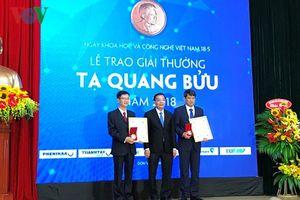 3 nhà khoa học nhận Giải thưởng Tạ Quang Bửu năm 2018