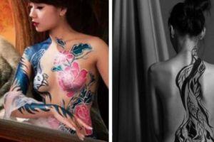 3 hot girl làm người mẫu body painting nổi tiếng nhất hiện nay