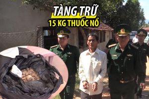Tàng trữ hơn 18 kg thuốc nổ trong nhà và trên xe máy