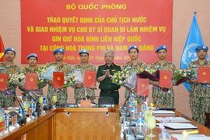 Chủ tịch nước cử 7 sĩ quan QĐND Việt Nam đi làm nhiệm vụ tại nước ngoài