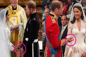 Khác biệt về cử chỉ của Harry - Meghan và William - Kate trong ngày cưới nói lên điều gì?