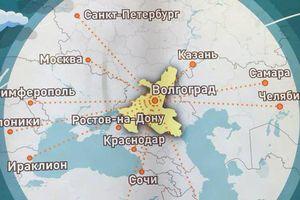 Méo mặt với bản đồ sân bay Volgograd đánh đố du khách