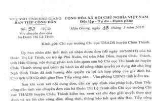 Vụ người dân tố chấp hành viên thi hành án trái luật: UBND tỉnh Hậu Giang chỉ đạo làm rõ