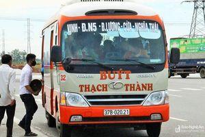 Thạch Thành di dời vị trí biển báo dừng xe buýt tại đường N5