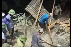 Vụ sập giàn giáo ở Nam Định: Đã xác định được số người thương vong