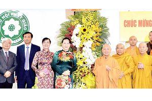 Chủ tịch Quốc hội Nguyễn Thị Kim Ngân chúc mừng Đại lễ Phật đản tại TPHCM