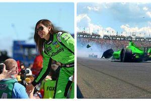Người đẹp Danica Patrick gặp nạn trong ngày giã từ sự nghiệp đua xe