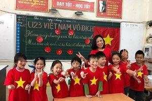 Video dự thi 'ấn tượng U23 Việt Nam': Cổ vũ U23 trong trường tiểu học