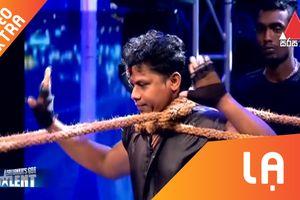 Người đàn ông vận công khi bị siết cổ tại Sri Lanka's Got Talent