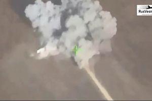 UAV Nga 'chộp' được cảnh quân đội Syria 'thổi tung' kho vũ khí phiến quân
