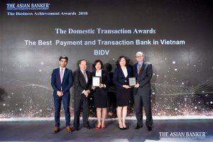 BIDV được vinh danh ngân hàng giao dịch tốt nhất Việt Nam
