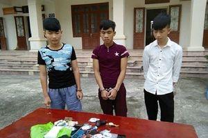 Nhóm đối tượng liên tiếp gây ra 3 vụ trộm cắp tài sản
