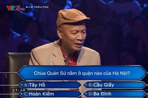 Người chơi 'Ai là triệu phú' cần trợ giúp ngay câu đầu tiên