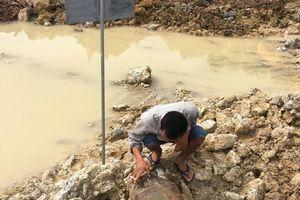 Thi công dự án sông Tam Điệp, công nhân phát hiện quả bom còn nguyên vẹn dưới lòng đất