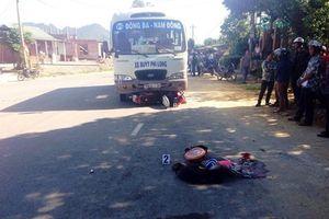 Xe buýt lao vào gia đình: Vợ tử vong tại chỗ, 3 bố con nguy kịch