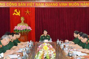 Thượng tướng Lương Cường làm việc với Bộ tư lệnh Quân khu 4
