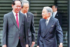 Nhà vua Nhật Bản đón Chủ tịch nước Việt Nam Trần Đại Quang