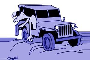 Chiếc xe Jeep đồng nát