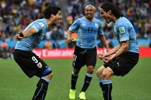 Uruguay chốt 'dàn sao' sang Nga dự World Cup 2018