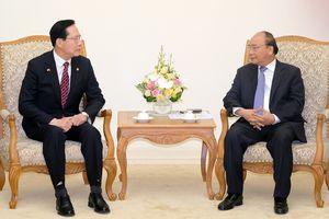 Thủ tướng Nguyễn Xuân Phúc tiếp Bộ trưởng Quốc phòng Hàn Quốc