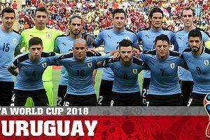 Uruguay 'chốt' danh sách 23 tuyển thủ dự World Cup 2018 tại Nga