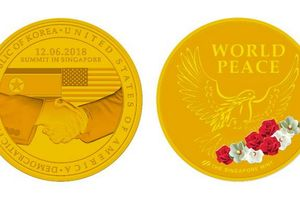 Singapore ra đồng xu kỷ niệm thượng đỉnh Mỹ-Triều