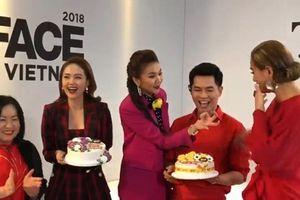 Host Nam Trung và Minh Hằng đón sinh nhật tại trường quay The Face Việt Nam 2018