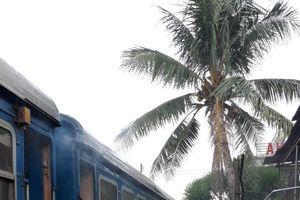 Hàng trăm khách hoảng loạn khi tàu hỏa bốc cháy