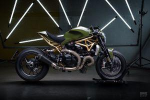 Ducati Monster 1200 R bóng bẩy với khung xe dát vàng